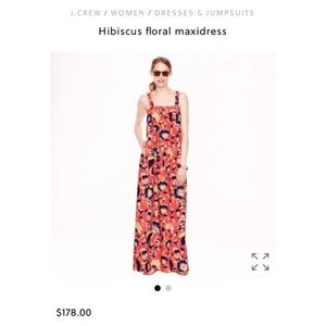 J.Crew hibiscus floral dress